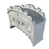 Bridge of Sighs, Ponte dei Sospiri, built in the 16th century, Venice, Italy, Europe on white. 3D illustration