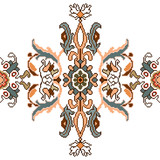 Tribal carpet isolated pattern. Vector rug weave. - 191000952