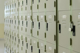 metal lockers cabinets in gym. - 191003735