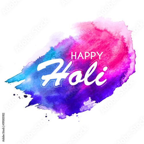 Happy Holi  abstract colorful  background