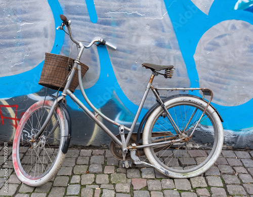 Foto op Canvas Fiets Old retro bicycle