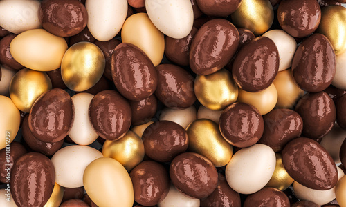 chocolate and golden eggs