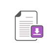 Document download file internet page icon