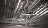 HVAC (heating, ventilation and air conditioning) pipes. 3D rendedered illustration. - 191010306