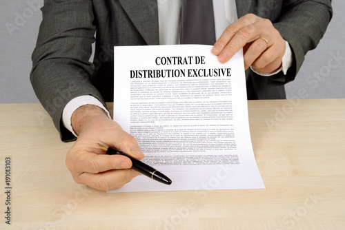 Contrat de distribution exclusive