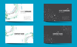 Creative double-sided business card template. - 191018338