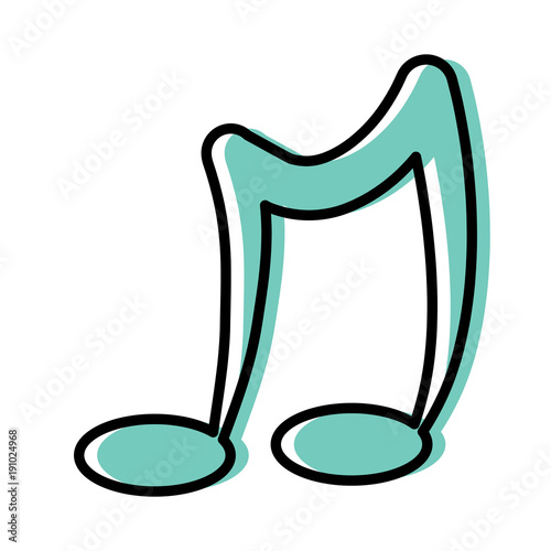 Fotobehang Muziek Musical note icon