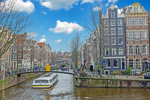 Deurstickers Amsterdam Amsterdam in the Jordaan in the Netherlands