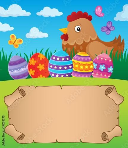 Aluminium Voor kinderen Small parchment with Easter hen 1