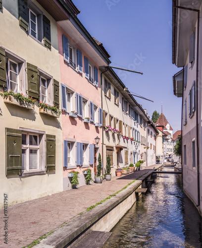 Fotobehang Smalle straatjes Sursee old town, Lucerne, Switzerland