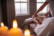 Quadro Professional beautician massaging female back