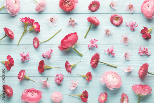 Sticker Pink flowers collection