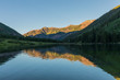Scenic Reflection in a Colorado Wilderness Lake in Summer