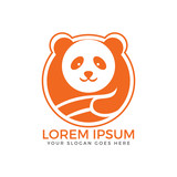 Panda bear Logo design vector template.
