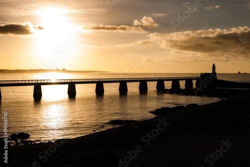 Foto op Canvas Zee zonsondergang Les Sables d'Olonne