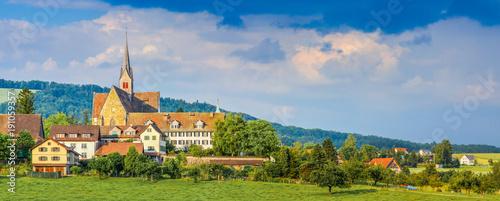 Keuken foto achterwand Panoramafoto s Kappel am Albis region, Zurich, Zug, Switzerland