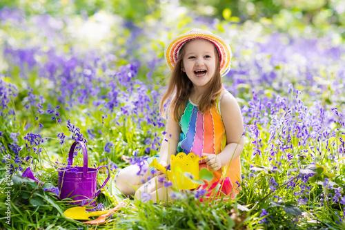Sticker Kids in bluebell garden