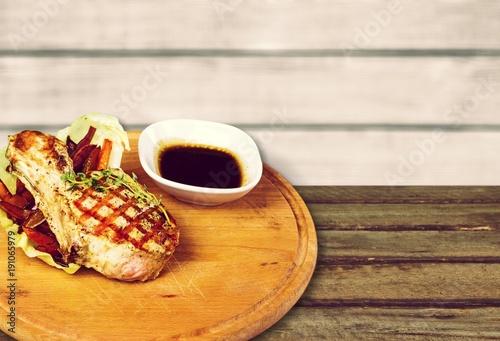 Foto op Aluminium Steakhouse Steak.