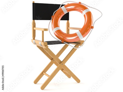 Movie director chair with life buoy