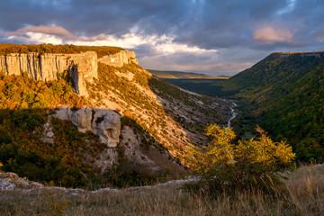 Besh-Kosh mountain near by Bakhchisaray, Crimea
