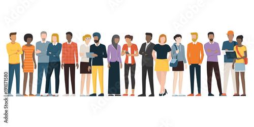 Multiethnic group of people