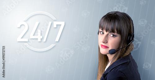 Poster Female telemarketer