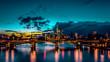 Frankfurt skline by night