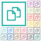 Copy document flat color icons with quadrant frames - 191078718