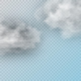 Vector set of realistic isolated cloud on the transparent background. - 191079332