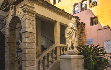 Symbolic monument of Old Padua Italy. Public place.