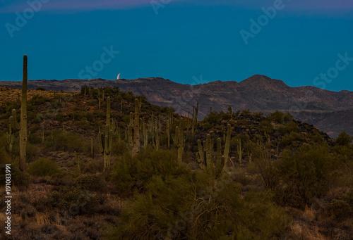 Foto op Canvas Arizona Desert Sliver Moon