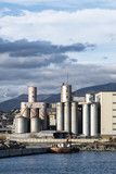 Old silos and industrial area in the Imperia harbor (Italy) - 191085752