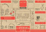 Fast Food Restaurant Placemat - 191091174