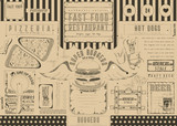 Fast Food Restaurant Placemat - 191091369