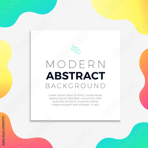 Abstract Colorful Overlay Sign Background