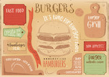 Burger Placemat on Craft Paper - 191092790