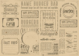Fast Food Restaurant Placemat - 191094197