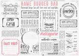 Burger Placemat on Craft Paper - 191094313