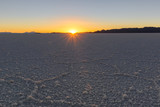 Salar de Uyuni at sunset, Salt flat in Bolivia - 191097989