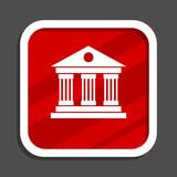 Museum icon. Flat design square internet banner. - 191099966