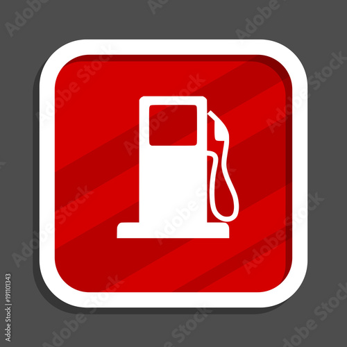Petrol icon. Flat design square internet banner.