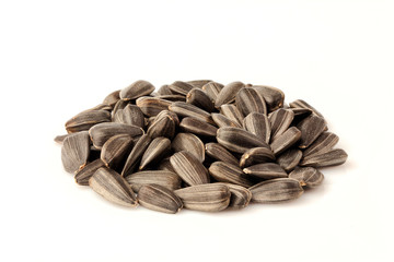 Sunflower seeds isolated.