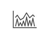 Line chart icon. Financial growth graph sign. Stock exchange symbol. Quality design element. Editable stroke. Vector - 191106133