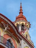 Detail from Hotel Astoria-former Sztarill Palace-located in Ferdinand Square, Oradea, Romania - 191108309