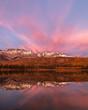 Portrait of Canadian Rockies at Sunset in Jasper National Park, Alberta, Canada