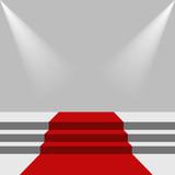 Red carpet and podium. - 191120177