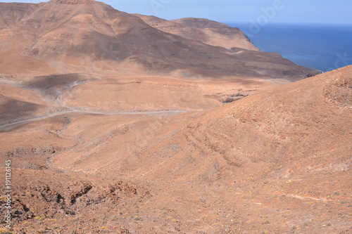 Foto op Canvas Zalm Dry Desert Landscape