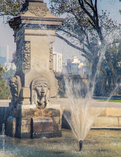 small fountain in mexico city