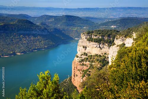 Fotobehang Rio de Janeiro Sau reservoir from high point. Catalonia