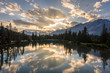 Sunset Reflections on the Bow River